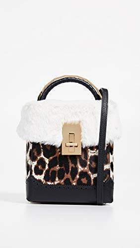 THE VOLON Faux Bag Box Leopard Fur Women's Great L qrxnqpd