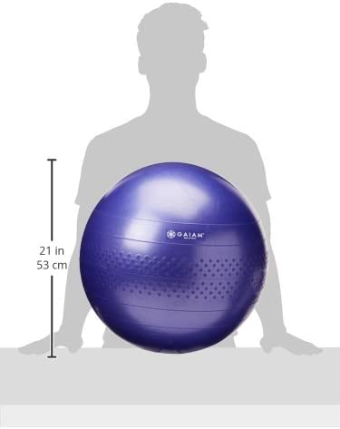Gaiam Total Body Balance Ball Kit - Includes Anti-Burst Stability Exercise Yoga Ball, Air Pump, Workout Program
