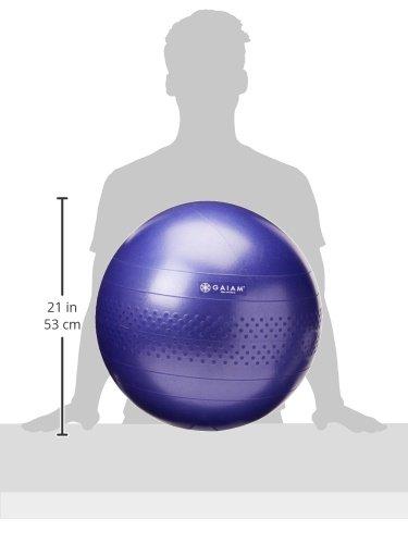 Gaiam Total Body Balance Ball Kit – Includes Anti-Burst Stability Exercise Yoga Ball, Air Pump, Workout Program