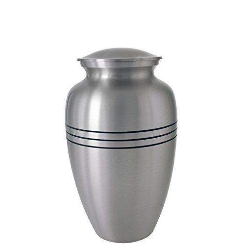 Memorial Gallery 7952D Traditional Pewter Cremation Pet Urn, 6''