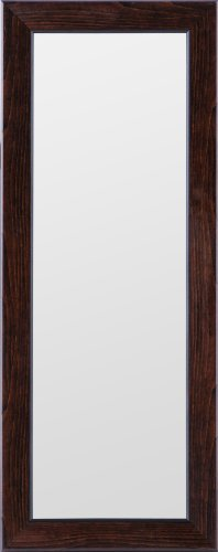 Gallery Solutions Black Ashwood Mirror, 4-Inch by 12-Inch