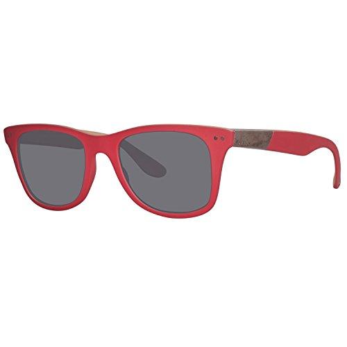 Diesel Plastic Frame Grey Lens Unisex Sunglasses - Sunglasses Diesel Red