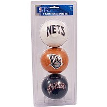NBA New Jersey Nets Kids Softee Basketball (Set of 3), Small, Black