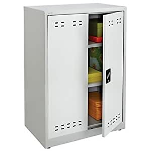 Townsend steel 42 h storage cabinet gray for Amazon kitchen cabinets