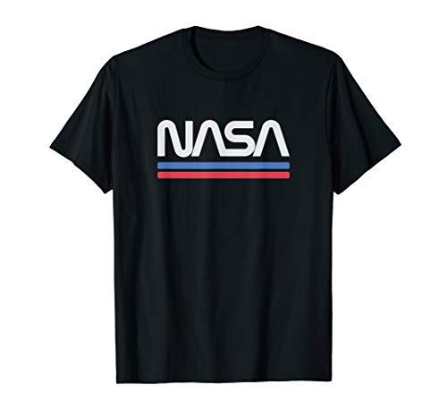 Vintage Nasa Worm Logo T-Shirt - Awesome Retro Aerospace ()