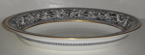 Wedgwood Florentine Black W4312 Oval Vegetable Bowl 10