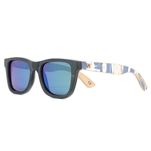 Recycled Skateboard Sunglasses made from Real Decks – Woodzee - Sunglasses Skateboard Recycled
