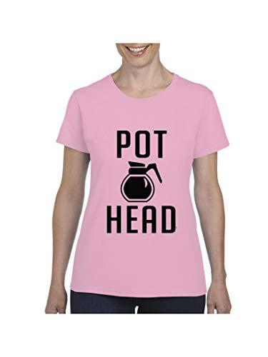 Funny Sayings Coffee Pot Head Women's Short Sleeve T-Shirt (MLP)