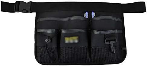 ツールベルト ウエストベルトのツールクリーニングバッグのホームガーデン緑黒オックスフォードクリーニングツールベルト調節可能なツールエプロンオーガナイザー 大工のエプロン (Color : Black, Size : 34x23cm)