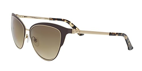 Calvin Klein Metal Frame Brown Lens Ladies Sunglasses CK8007S5716223
