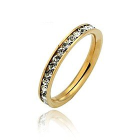 FLOW ZIG Glamorous 316L Stainless Steel .1CT Channel-Set Eternity Ring 0.1 Ct Channel Set