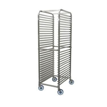 Winco ALRK-30BK Aluminum 36''L X 20-1/4''W X 69''H Sheet Pan Rack With 30 Full Size Pan