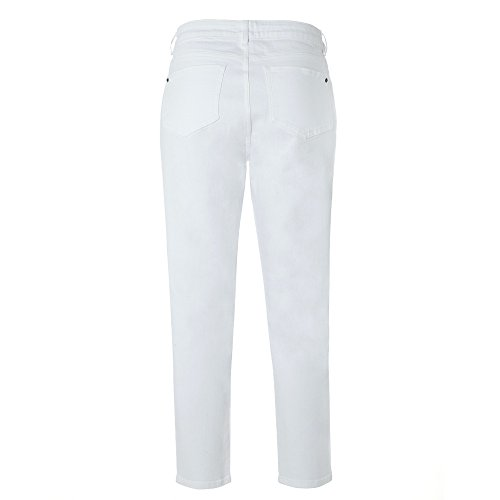 Jean Womens White Ss17 Stuff Raccolto Dritto RgvxqO0A