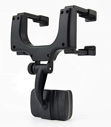 "Car Rearview Mirror Mount Holder for 3"" to 5.5"" Screen Cellphone, Car Mounting Bracket Mobile Phone GPS Bracket 360° Rotation for iPhone Xs Max/xs/x/8/8 Plus, Samsung Galaxy S7/S7 Edge"