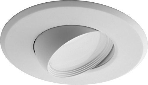 NICOR Lighting 5-6-Inch Dimmable 3000K Adjustable Eyeball LED Recessed Retrofit Downlight, White (DEB56-20-120-3K-WH)