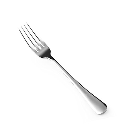 Hiware 12-piece Good Stainless Steel Dinner Forks Cutlery Set, 8 Inches ()