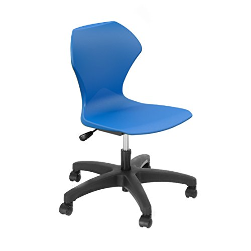 Marco Group 38103-20BK-ABL Apex Series Gas Lift Task Chair, Black Legs, Blue