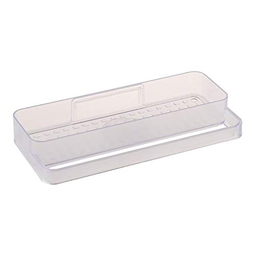 Fine Shower Suction Cup Plastic Shower Holder,Removable Kitchen Bathroom Wall Storage Rack Towel Storage Rack Organizer, Bathroom & Kitchen Accessories (White)