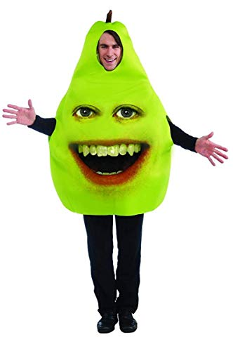 Forum Annoying Orange Pear Adult Costume, Green, One Size