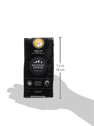 Kicking Horse Coffee, Smart Ass, Medium Roast, Whole Bean, 10 Ounce