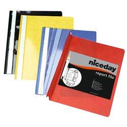 Niceday 182251 - Cartelline con fermaglio in vari colori, confezione da 25, formato A4 OD