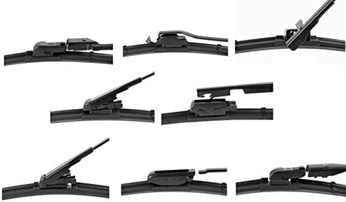 2x Front Scheibenwischer Wischerbl/ätter Aero Set Ersatz Satz Gelenklose Wischer f/ür Frontscheibe mit 9x EASY ADAPTER Hallenwerk 550mm // 500mm