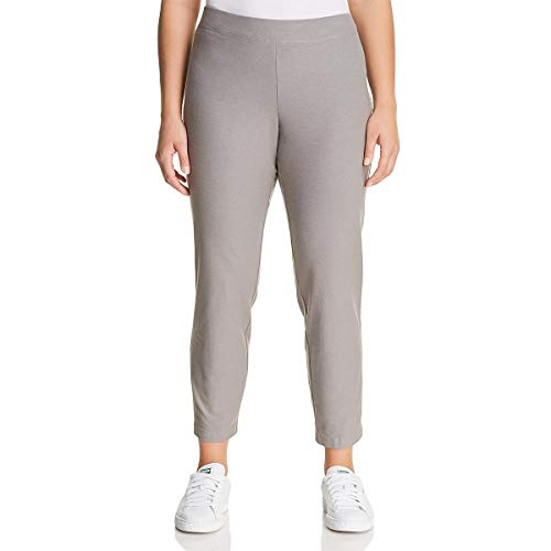 Eileen Fisher Washable Stretch Crepe Smoke Slim Ankle Pants 2X ()
