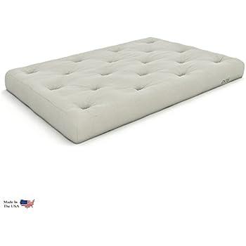 extra thick premium 10 inch twin futon mattress ivory twill   made in usa amazon    6 inch  fort futon loveseat ottoman mattress ivory      rh   amazon