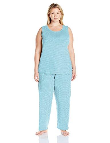 Amazon Essentials Womens Plus Size 100% Cotton Sleeveless Pajama Set