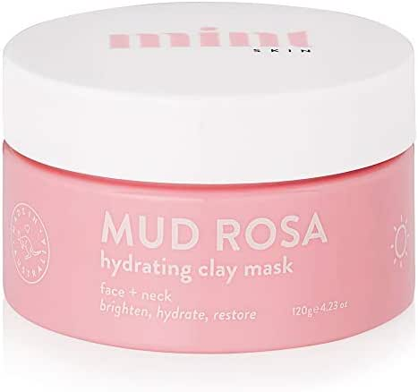 Mud Rosa Hydrating Face Mask - Australian Clay Mask With Kakadu Plum, Kaolin Clay, Rose Hip, Jojoba Oil, Macadamia Oil & Aloe Vera - Best for Acne, Eczema, Dry and Sensitive Skin - 423 oz 120g