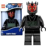 Lego Year 2012 Star Wars Movie Series 8 Inch Tall Figure Alarm Clock Set# 9005596 - DARTH MAUL with Moving Arms and Legs Plus Backlight Display ()