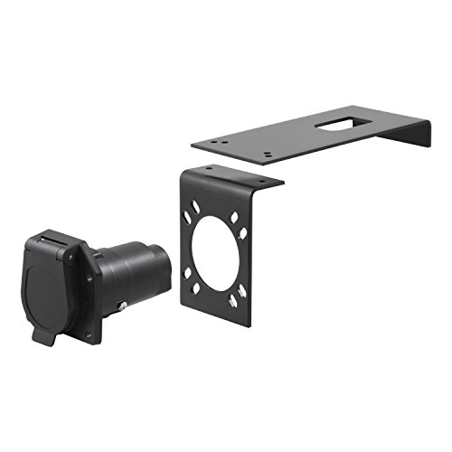 Curt 57202 Clamp-On Bracket Mount For 7 Way Sockets