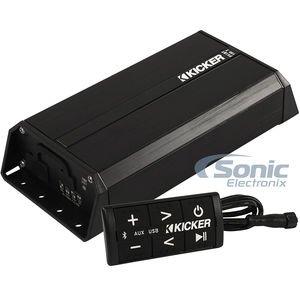 (Kicker PXIBT100.2 - 2x50-Watt Full-Range Amplifier/Controller w/ Bluetooth Interface)