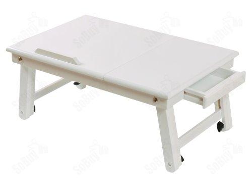 De Pc Blanche Double Table Fbt02 Support Et Ordinateur Couleur Portable Lit Pour En W Ipad Pliable Sobuy Bois Plateaux thdsQCr