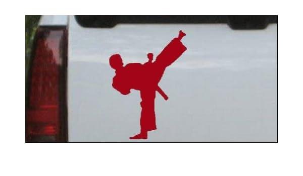 Amazon.com: Red 4in X 2.9in -- Karate Ninja Sports Car ...