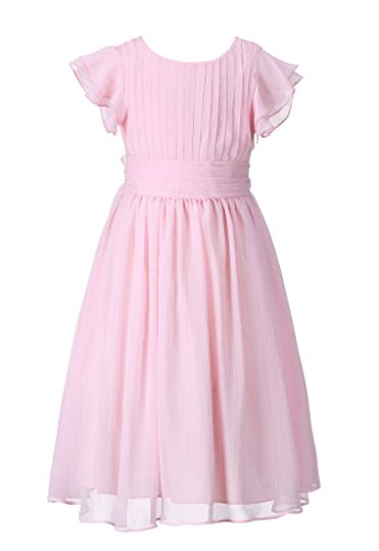 (Happy Rose Flower Girl's Dress Prom Party Dresses Bridesmaid Dress Blush Pink)