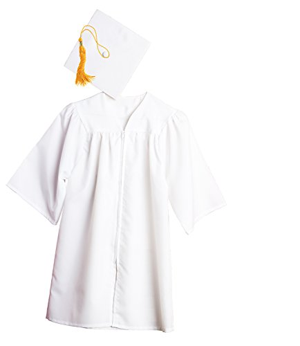 Jostens Graduation Cap And Gown Package Large White ()