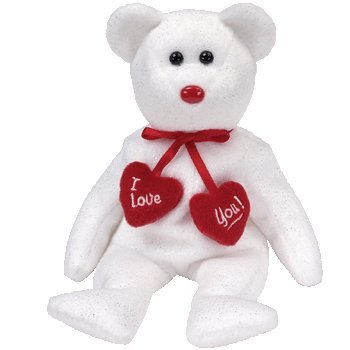 Image Unavailable. Image not available for. Color  Ty Beanie Babies Truly -  Valentine s Bear dd7ea8aff73c