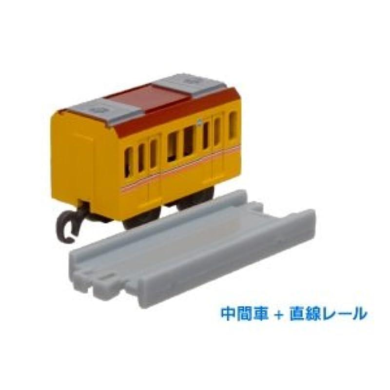 【#-172】지하철 전철편 긴자선1000 계(중간)캡슐 프라 레일(커브 프라)(*)
