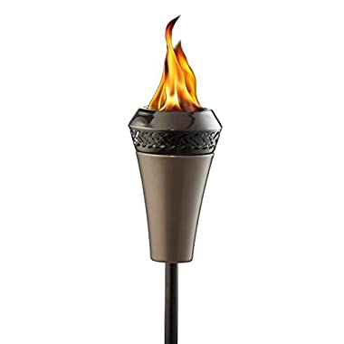 Tiki Brand 66-inch Island King Large Flame Torch Gunmetal Finish