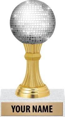 """5""""ディスコボール図Trophy–音楽認識ダンスTrophies"""