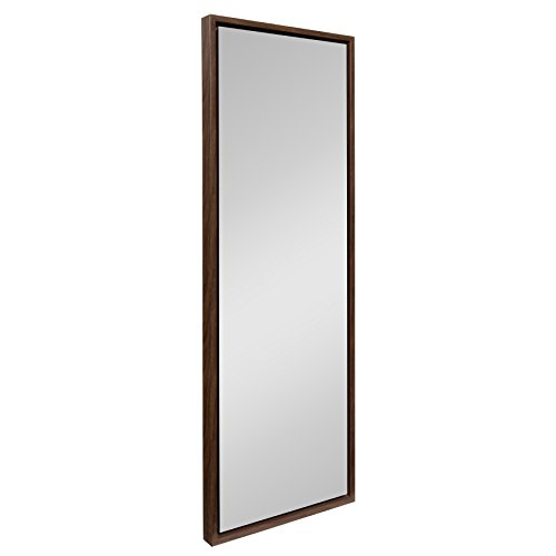 (Kate and Laurel Evans Wood Framed Wall Panel Mirror, 16 x 48 Walnut Finish)