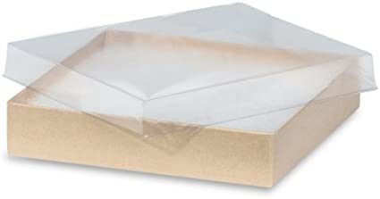 "Case of 100 3 1//16/"" x 2⅛/"" x 1/"" Cotton Filled Jewelry Boxes White Vu-Top"