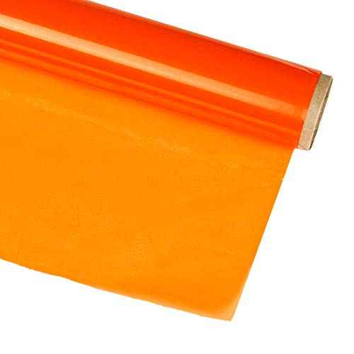 Hygloss Products, Inc n/a Products Cellophane Roll – Cellophane Wrap for Crafts, Gifts, and Baskets 20 Inch x 12.5 Feet, Orange