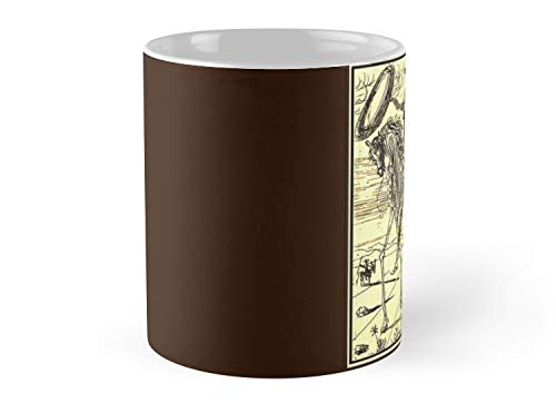 Don Quixote Vintage Dali Abstract Painting Print Mug - 11oz Mug - Best gift for family friends (Painting Abstract Dali)