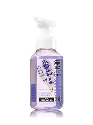 FRENCH LAVENDER, JAPANESE CHERRY BLOSSOM & WARM VANILLA SUGAR Bath & Body Works Set of Gentle Foaming Hand Soap - Pack of 3 with a Jarosa Bee Organic Chocolate Bliss Lip Balm