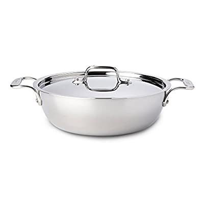 All-Clad Tri-Ply Stainless Steel 3-qt. Cassoulet with Lid