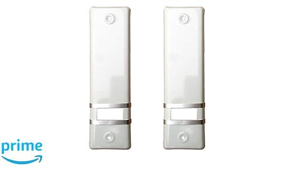 2 x diseño de aluminio de la cubierta - persiana de apertura/sin recogedor/la: 160 mm/colour: colour blanco: Amazon.es: Bricolaje y herramientas