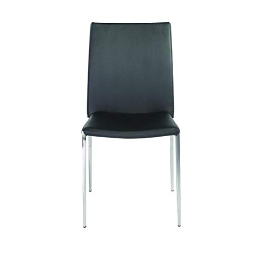 Stylish Guest or Conference Chair in Black Leatherette (Set of 4) ()