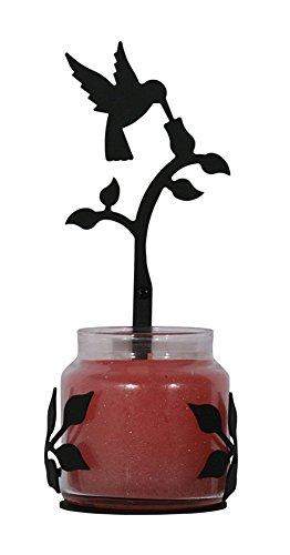 Iron Hummingbird Sconce - Heavy Duty Metal Candle Holder